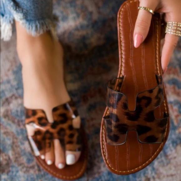 Qupid Shoes | Aphrodite Clear Leopard